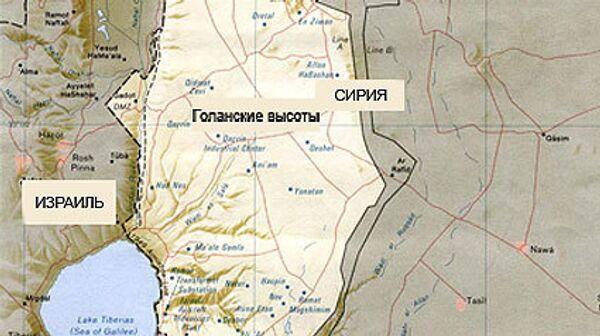 Голанские высоты, Сирия, Израиль, карта