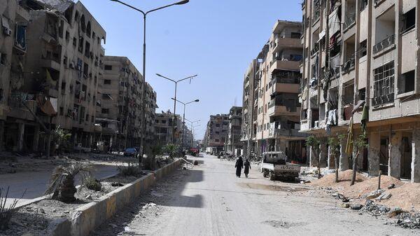 Пригород Дамаска Дума после освобождения от боевиков