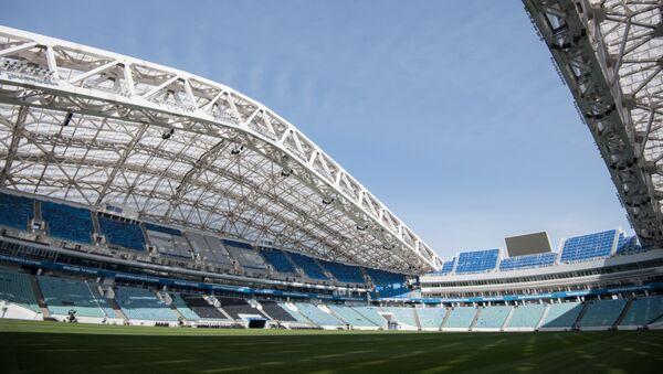 Стадион Фишт в Сочи в преддверии чемпионата мира по футболу 2018