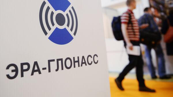 Стенд российской государственной системы экстренного реагирования при авариях Эра-Глонасс. Архивное фото