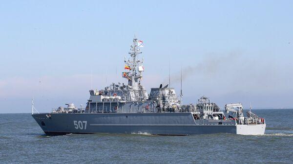 Выход кораблей Балтийского флота в море