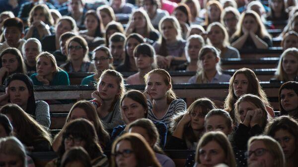 Студенты Московского Государственного педагогического университета на мастер-классе