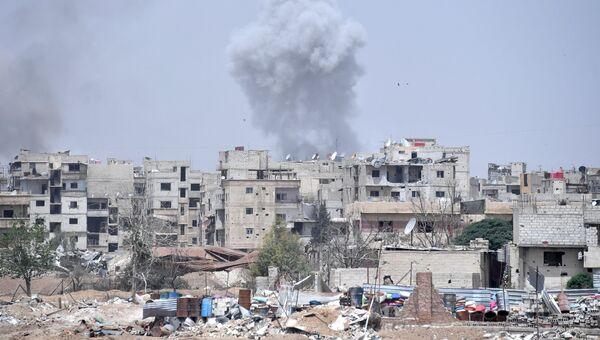 Лагерь беженцев Ярмук в южном пригороде Дамаска. Архивное фото