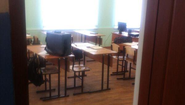 Учебный класс колледжа в Новосибирской области, где произошла стрельба. 10 мая 2018