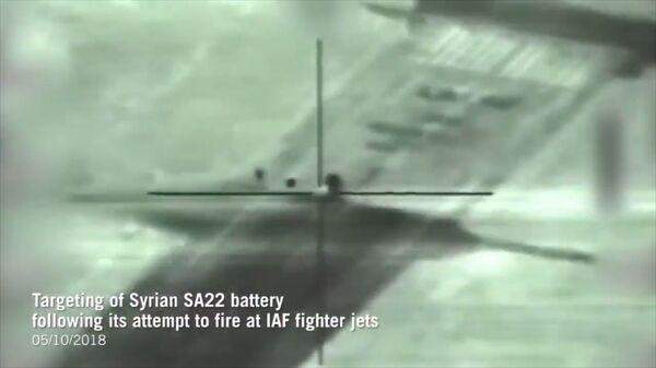 От первого лица: ВС Израиля показали видео с ракеты, уничтожившей ЗРК в Сирии