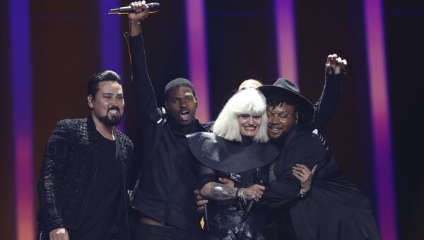 Болгарская группа Equinox в финале конкурса Евровидение. 12 мая 2018