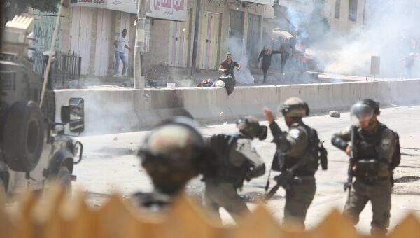 Уличные протесты в Палестине против переноса посольства США из Тель-Авива в Иерусалим. Архивное фото