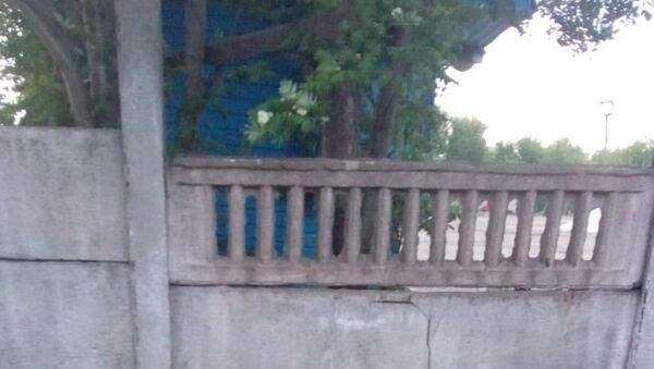 Фрагмент бетонного ограждения, упавший на ребенка в Богородицке