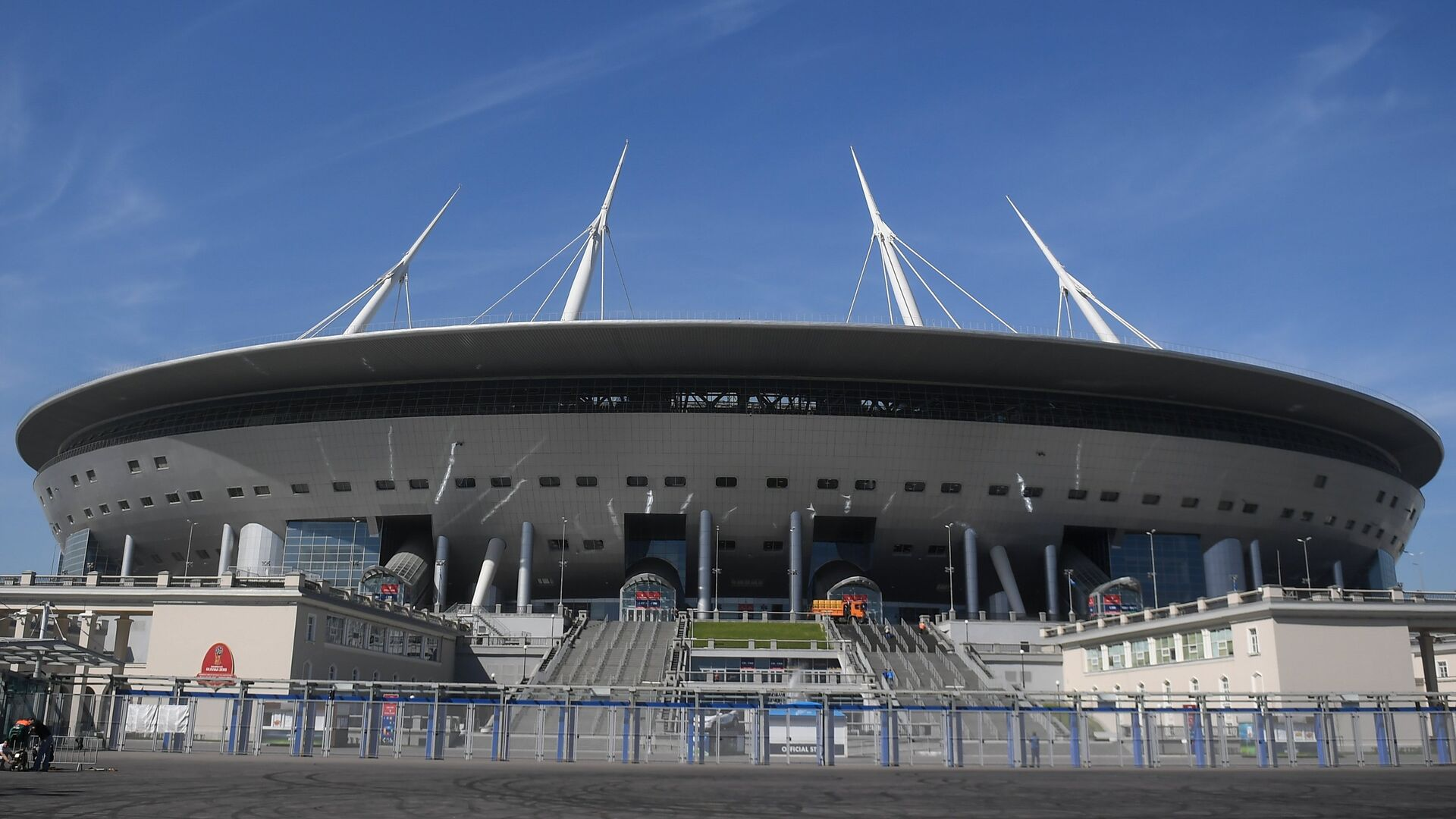 Стадион Санкт-Петербург, где пройдут матчи чемпионата мира по футболу 2018 - РИА Новости, 1920, 01.06.2021