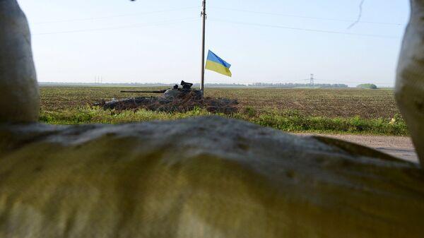 Танк украинской армии на Донбассе. Архивное фото.