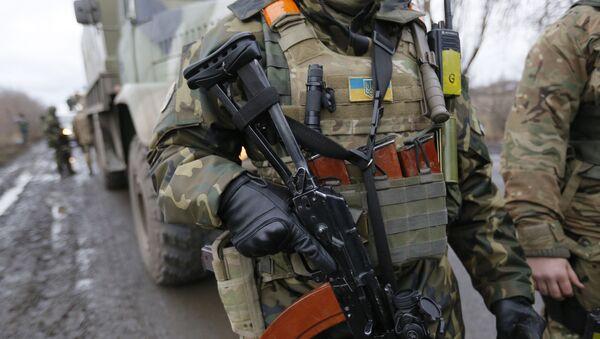 Солдаты украинской правительственной армии. Архивное фото
