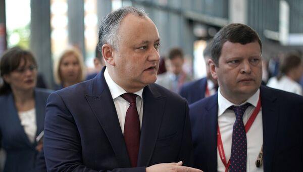 Президент Молдавии Игорь Додон, архивное фото