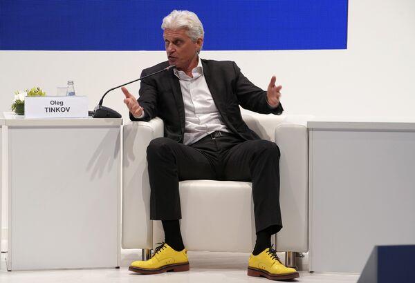 Председатель совета директоров Тинькофф Банк Олег Тиньков на Петербургском международном экономическом форуме. 25 мая 2018