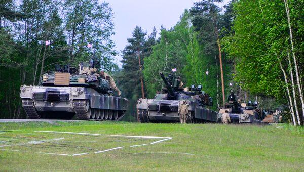 Американские танки во время учений