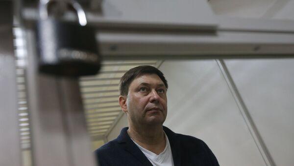 Руководитель портала РИА Новости Украина Кирилл Вышинский во время рассмотрения апелляции на арест в Херсонском зале суда. 29 мая 2018