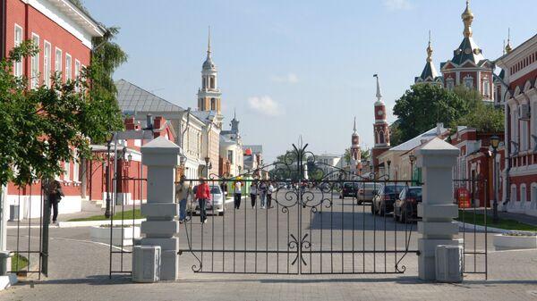 Пешеходная улица в городе Коломна