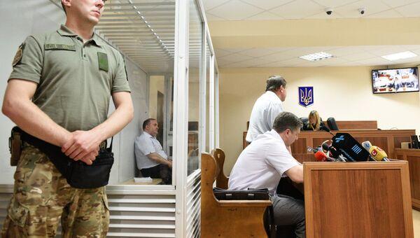 Директор украинского предприятия по производству оружия Борис Герман, обвиняемый в организации покушения на журналиста Аркадия Бабченко в Киеве, на судебном заседании. 31 мая 2018