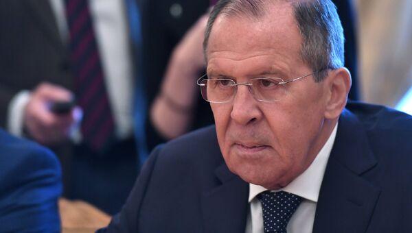 Сергей Лавров во время встречи в Москве. Архивное фото
