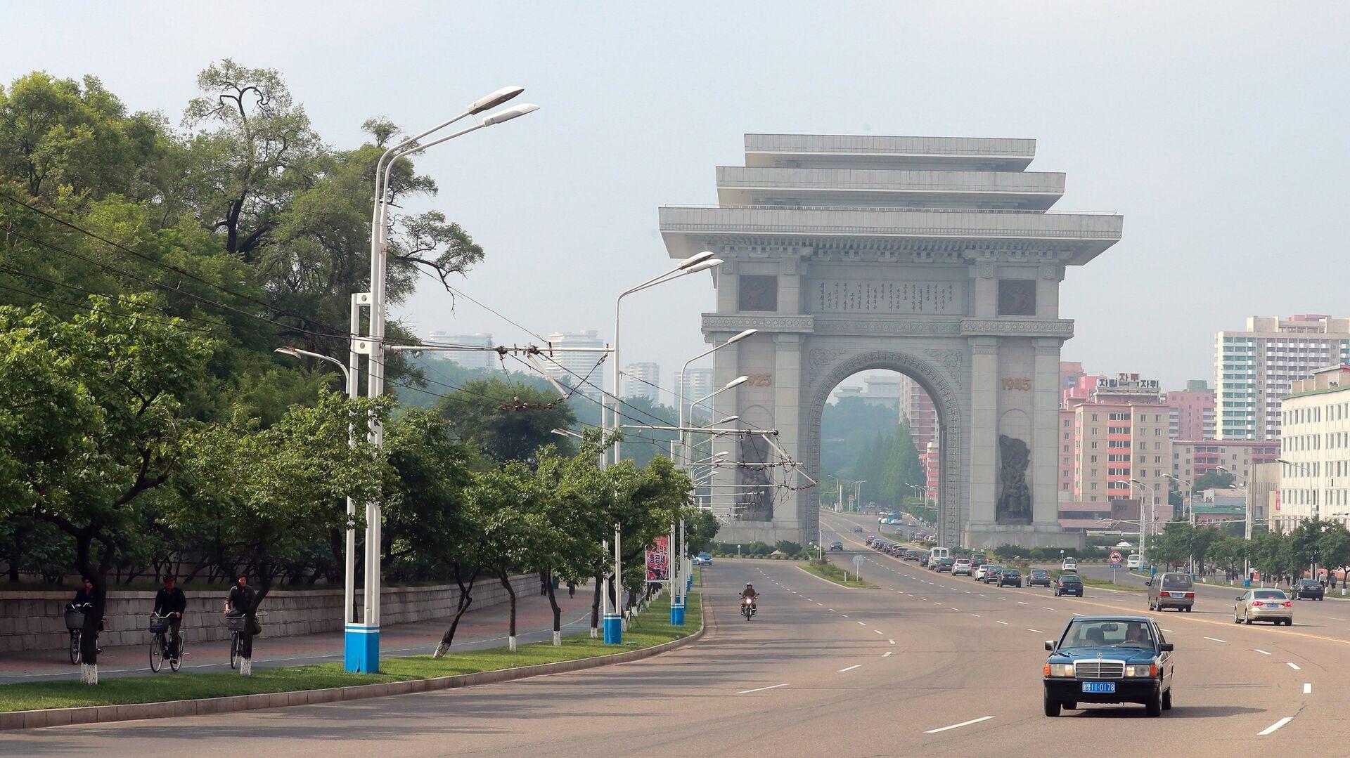 Триумфальные ворота в Пхеньяне - РИА Новости, 1920, 22.10.2020