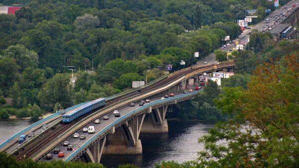 Мост Метро через Днепр в Киеве