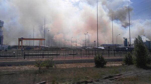 Пожар в Чернобыльской зоне отчуждения. 6 июня 2018