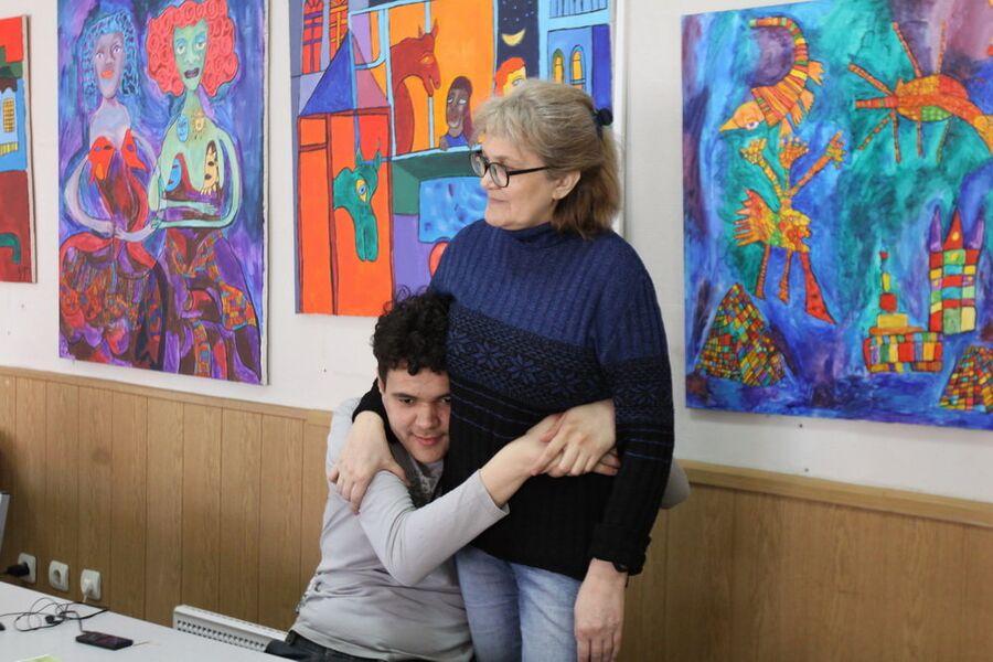Тимур Штроман с мамой