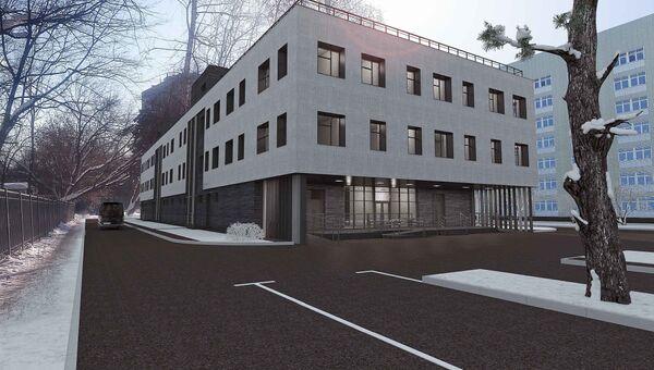 Проект нового паталогоанатомического корпуса больницы имени Ерамишанцева на Ленской улице