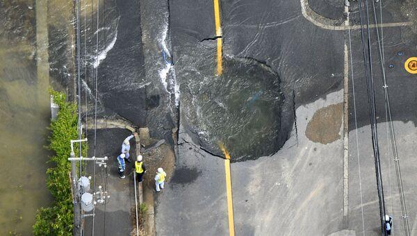 Последствия землетрясения в Такацуки, Япония. 18 июня 2018