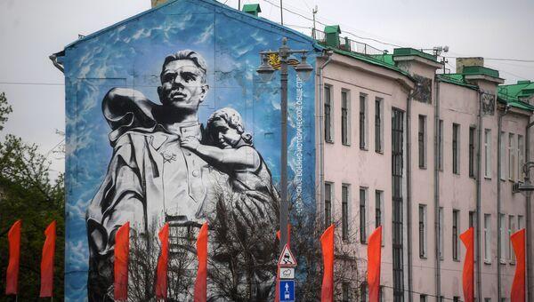 Праздничное оформление Москвы к Дню Победы