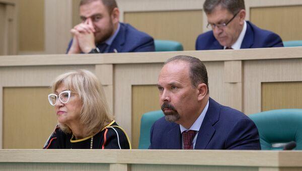 Михаил Мень на заседании Совета Федерации РФ. 20 июня 2018