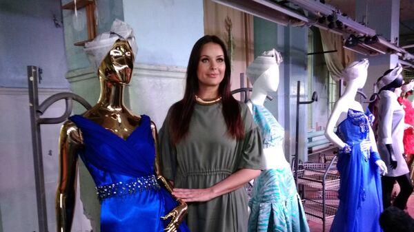 Оксана Федорова на выставке Платья с историей Нижний Новгород.