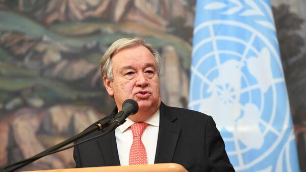 Генеральный секретарь ООН Антониу Гутерреш. Архивное фото