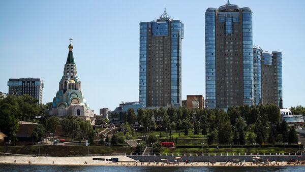 Вид на Самару с реки Волга. Архивное фото