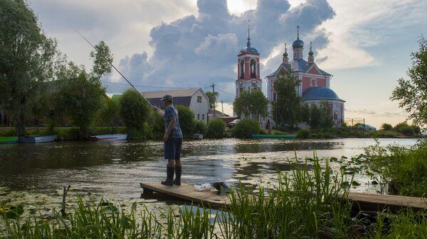 Церковь Сорока мучеников на Плещеевом озере в городе Переславль-Залесский