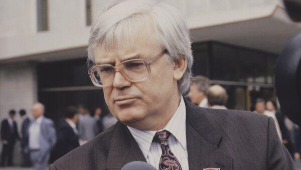 Председатель Государственного комитета СССР по телевидению и радиовещанию Леонид Кравченко. Архивное фото