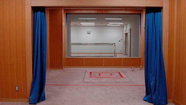 Помещение для исполнения смертной казни в Токийском центре заключения