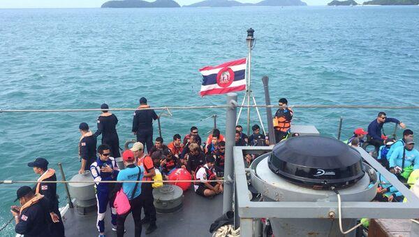 Поисково-спасательная операция в море у острова Пхукет в Таиланде. 6 июля 2018 года
