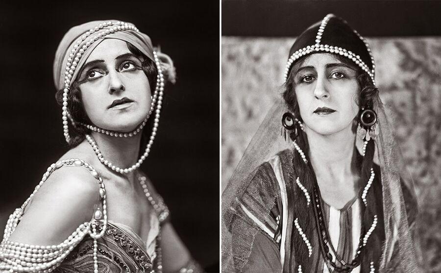 Слева: Вера Фокина в роли Зобеиды. Справа: Любовь Чернышева в роли Половецкой девушки