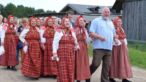 Церемония вступления деревни Веркола в Ассоциацию самых красивых деревень России