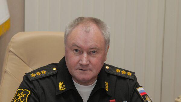 Главнокомандующий ВМФ России адмирал Владимир Королев на совещании в Адмиралтействе