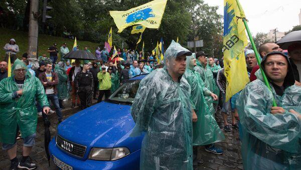 Автовладельцы с европейскими номерами пикетируют Верховную раду в Киеве. 11 июля 2018