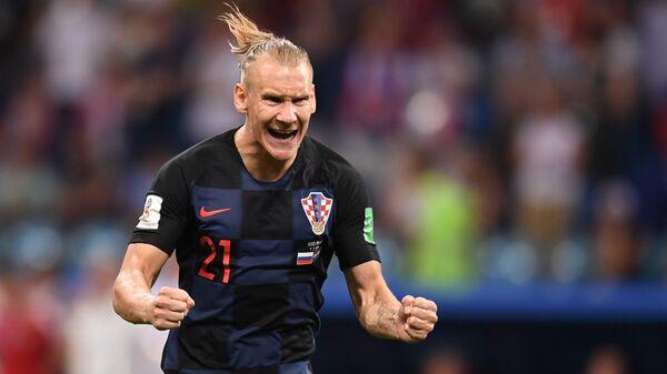 Домагой Вида (Хорватия) в матче 1/4 финала чемпионата мира по футболу между сборными России и Хорватии