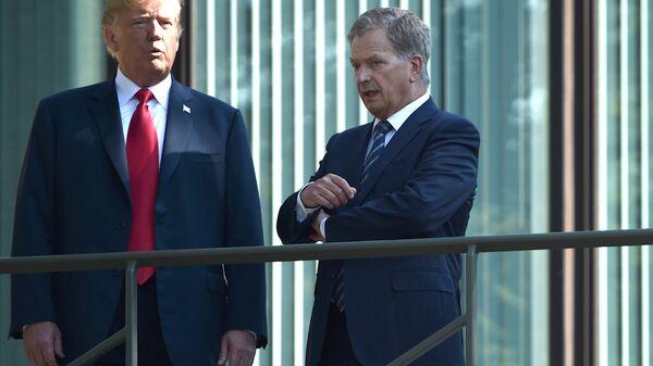 Президент США Дональд Трамп и президент Финляндии Саули Ниинистё