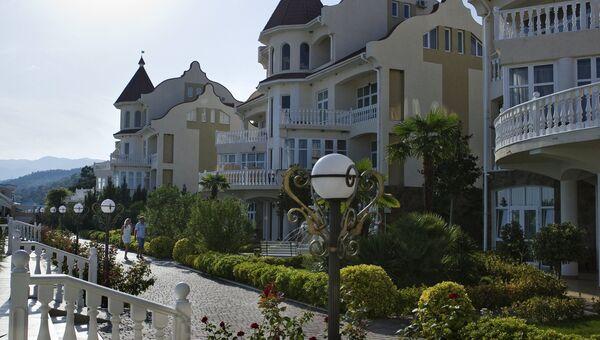 Отель в местечке Семидворье в окрестностях Алушты. Архивное фото