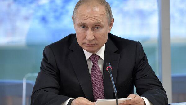 Президент РФ Владимир Путин проводит в ходе рабочей поездки в Калининград. 20 июля 2018