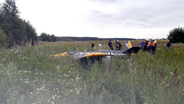 Крушение легкомоторного самолета в Серпуховском районе Московской области. 24 июля 2018