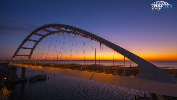 Крымский мост в июле 2018 года