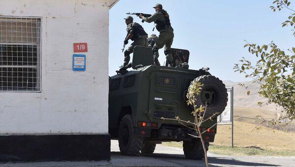 Спецназ Таджикистана на 201-й российской военной базе. Архивное фото