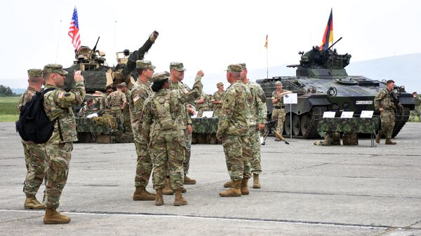 Военнослужащие военно-политического блока НАТО в Грузии