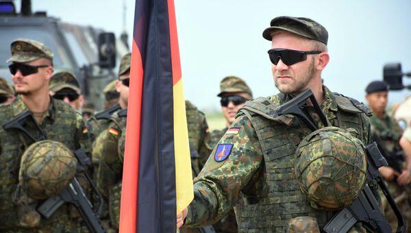 Военнослужащие армии Германии на открытии международных военных учений под эгидой НАТО. Архивное фото в Грузии
